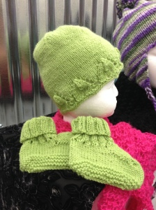 Knitted Beanie and Booties